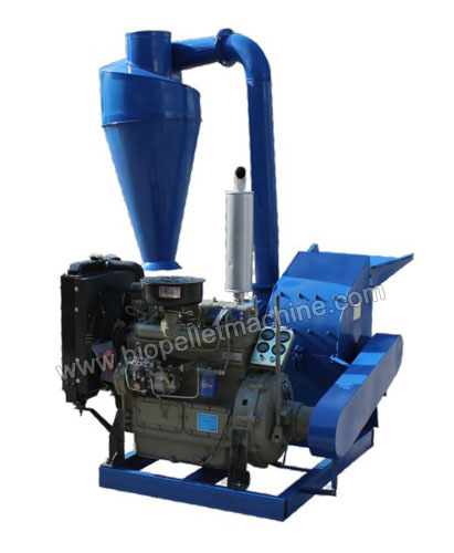 diesel wood crushing machine