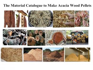Money Earning Opportunity----Make Acacia Wood into Pellets